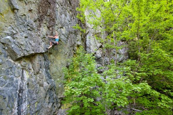 Magda Kosior completes The Mutation (11c), Toxic Lichen wall, Cheak Canyon