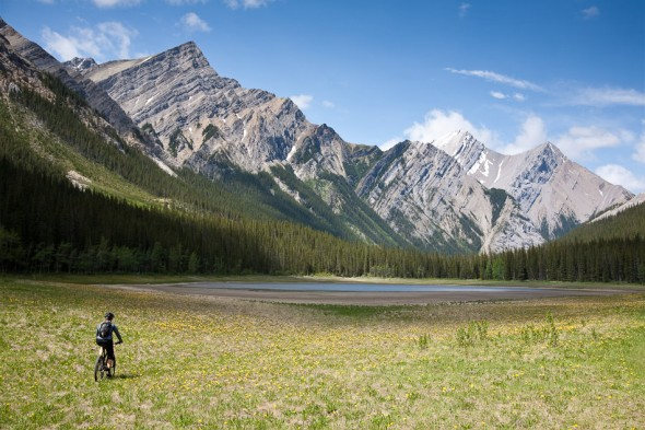 On the way into Jacque Lake, near Medicine Lake in the Maligne Valley, Jasper NP