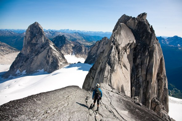 Approaching the high summit on Pigeon Spire - definitely the most classic alpine scramble of that grade we've ever done.