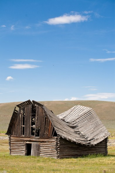 Collapsed barn, eastern Montana
