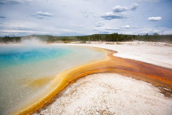 Sunset Lake - one of dozens of deep and vibrant thermal pools in the park