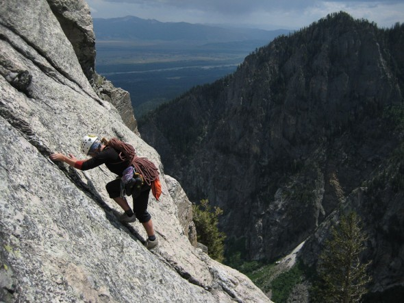 Third-classing the slabs at the top of the route. Glad it wasn't raining when we hit these!