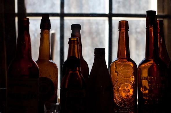 Bottles in museum