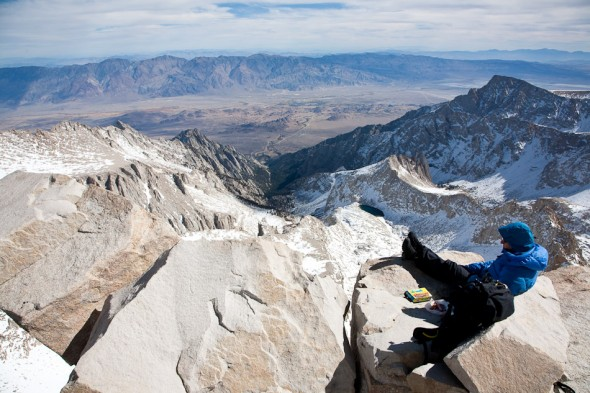 Sweet lunch spot! Looking out towards Death Valley (over far range). Whitney Portal, Lone Pine and Owens Valley below