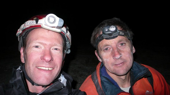 Me and Matt on the top of El Cap at 8pm - after 13 hours on the go... Matt looks a little worse for wear - he reckons he had the flu!