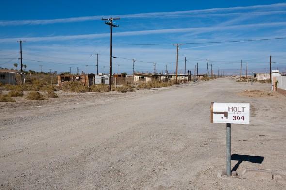 Town on the edge of the Salton Sea.