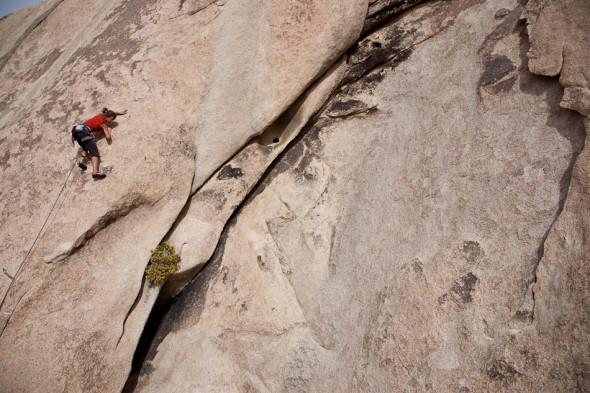 Mayan on 10d slab climb, Echo Valley