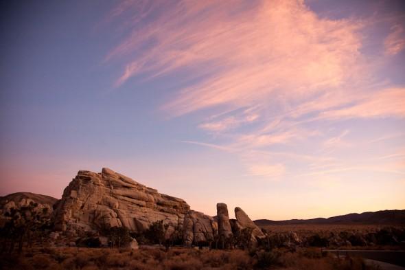 Sunset near Hidden Valley area