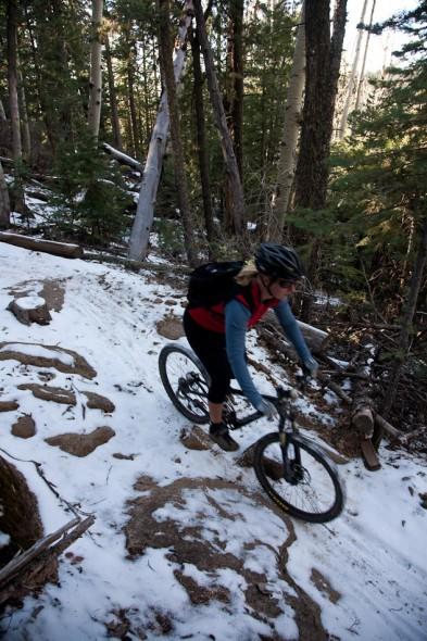 Descending Sunset Trail, Mt Elden
