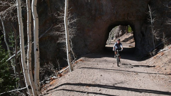 Tunnel on the Waterline Road climb