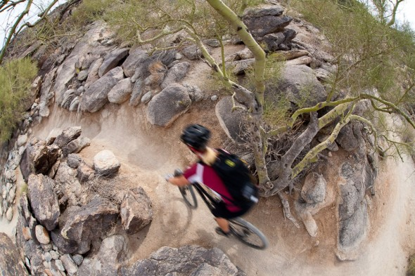 Flowing singletrack with constant rocky sections and cruxes are the hallmarks of this ride.