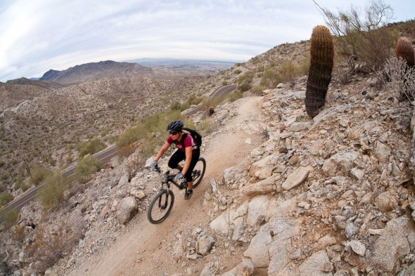 Near the turnaround point on the South Mountain, National Loop ride.