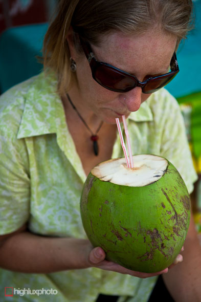 "coconut, woman, ""drinking from coconut"""