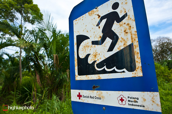 Tsunami evacuation route.