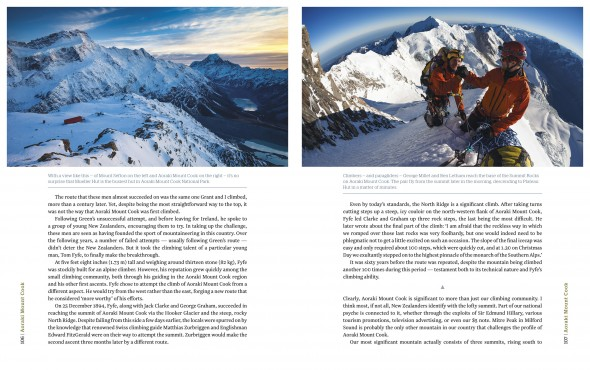 Our Mountains sample spread