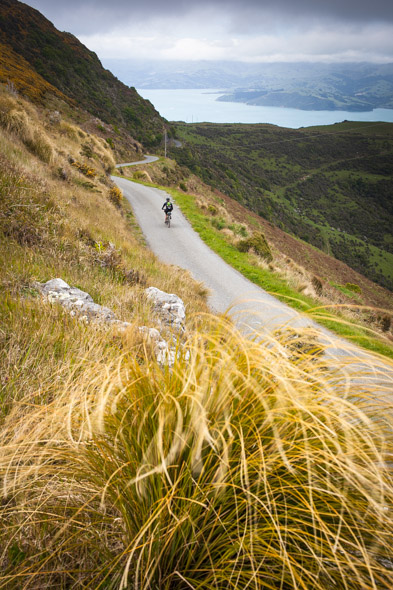 At the far end of the range the road plunges down into Wainui, back at sea level.