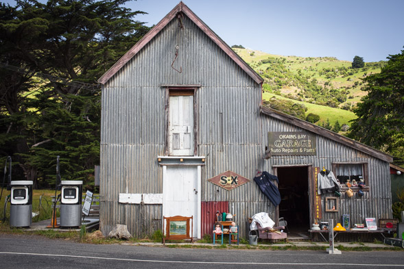 Okains, like other Peninsula villages, is full of character.