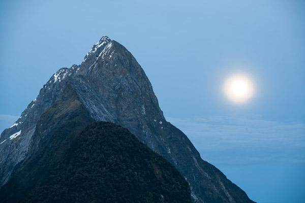 Mitre Peak & Full Moon