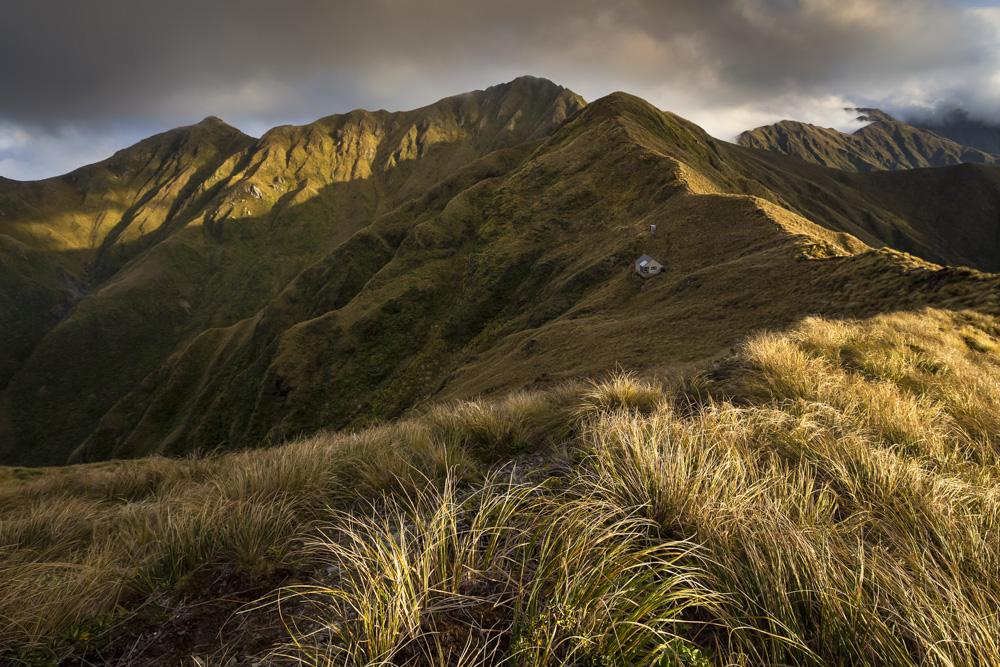Tarn Ridge Hut and Mt Girdlestone, Tararua Range