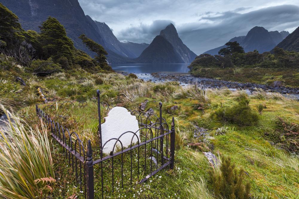 William Rathbun grave, Milford. Fiordland National Park