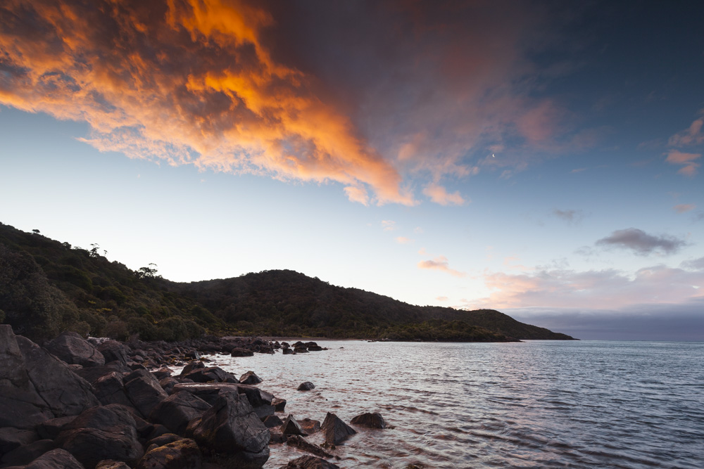 Rakiura, the Maori name for Stewart Island, translates to Land of the Glowing Skies.