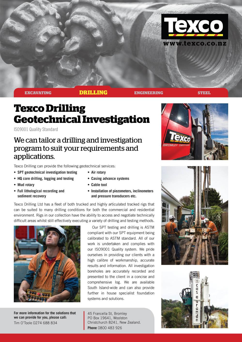 Geotech Investigation Flier