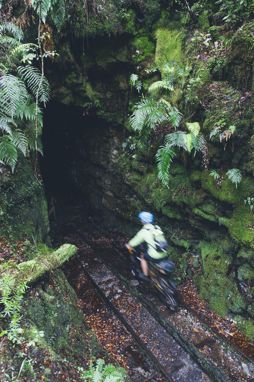 Old rail tunnel on the Charming Creek Walkway.