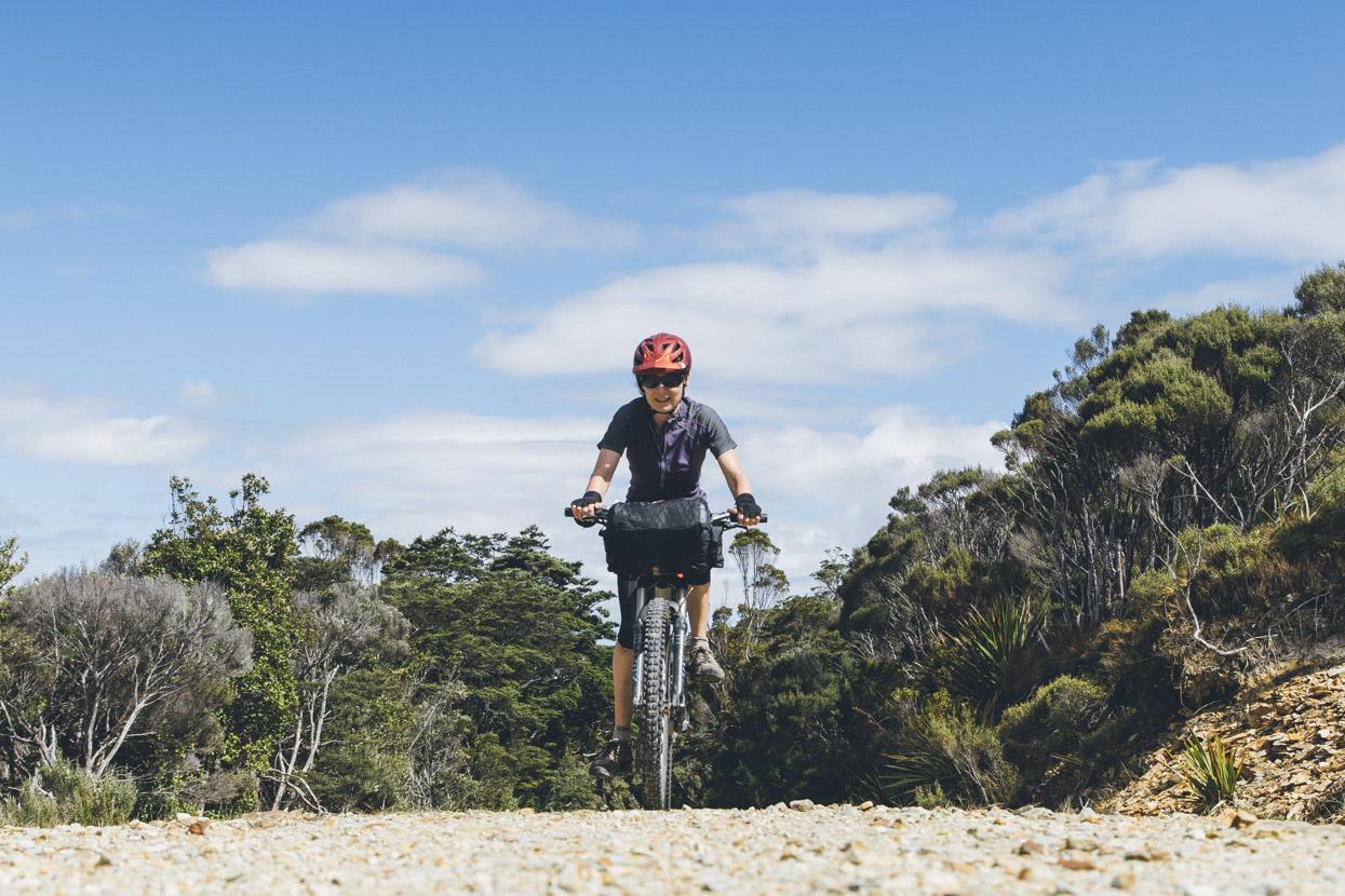 Tam climbing onto the Mt William Range on the edge of the plateau.
