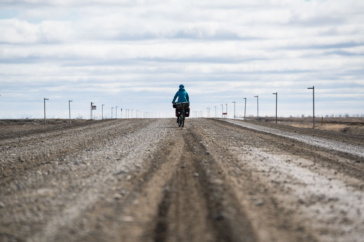 The worst surface of the Dalton for cyclists is probably the first 50km out out Deadhorse – it's covered in loose stone, more heavily trafficked and chewed up in places. Much of the rest was good hardpack with occasional seal. I've heard it can be a different story after prolonged rain though.