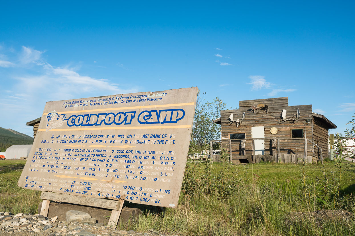 The camp was established initially as a maintenance camp for for the road and pipeline. These days it mostly serves truckers making the long drive north, but a small stream of tourists (mostly touring motorcyclists) passed through the two nights we were there.