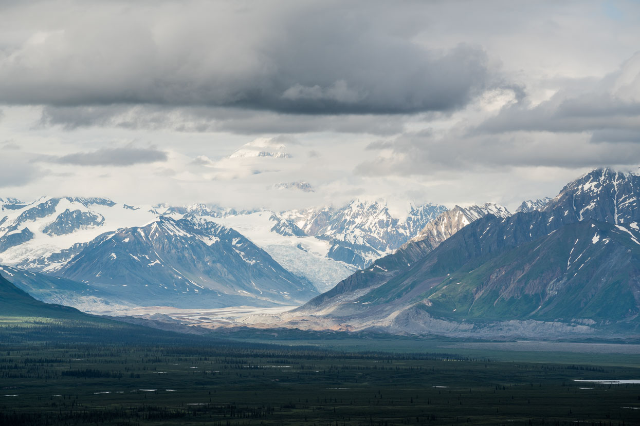 A 200mm lens brings giant glaciers a little closer.