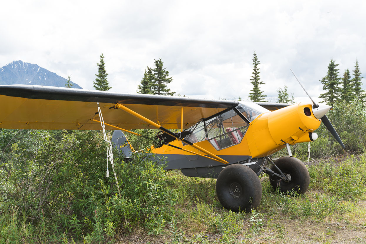 Light plane and Alaskan Bush Wheels.