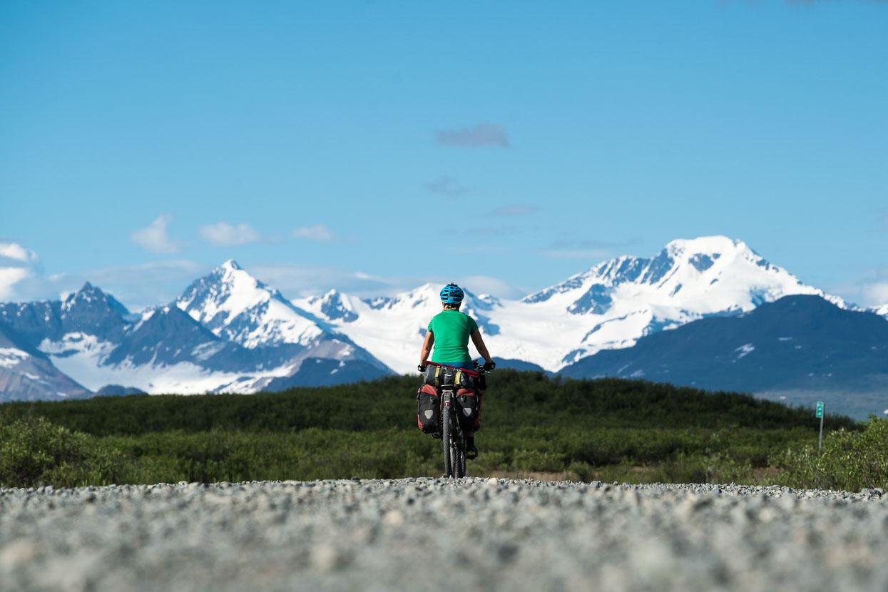 The Alaska Range as we approach Maclaren River.