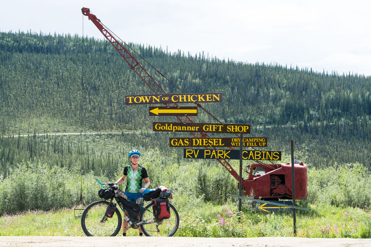 Chicken is an ex gold town, turned low-key tourist town in the middle of nowhere. Most of the time we avoid the tourist hotspots, but this one's an unavoidable dot-on-the-map on our route to the Top of the World Highway and Canada – turns out it's well worth the time to check out this tiny, quirky stop off.
