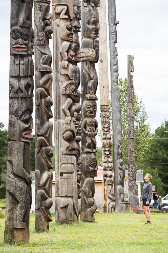 First Nations communities feature often along the Stewart Cassiar, but not more so than at Kitwancool and Kitwanga where native totems are on display.