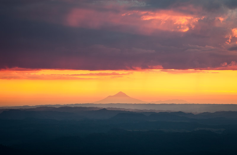 Taranaki Mount Egmont from Pureora Forest Park